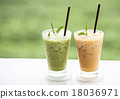 Cup of fresh green tea 18036971
