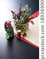 新年賀卡材料 新年裝飾 日本材料 18036990
