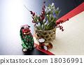 新年贺卡材料 新年装饰 日本材料 18036991