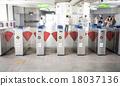 Entrance of subway 18037136
