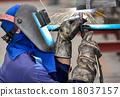 Welding work. 18037157