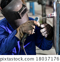 Welding work. 18037176