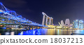 Singapore Skyline and view of Marina Bay 18037213