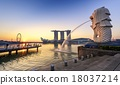 Singapore Skyline and view of Marina Bay 18037214
