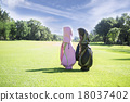 Golf cart in a golf club 18037402