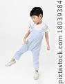 Asian little boy stretching leg 18039384