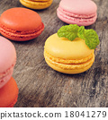 macarons of different colors and flavors 18041279