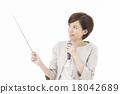 女性 指針 話筒 18042689