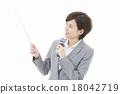 女性 指針 話筒 18042719