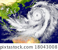 Hurricane north of Australia 18043008