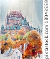 캐나다 퀘벡 성 스케치 그림 18043559