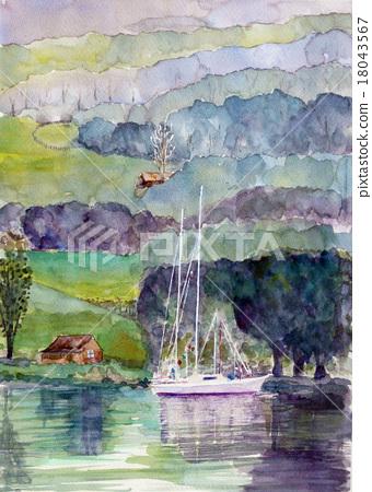 영국 호수 지방 코니스톤 스케치 18043567