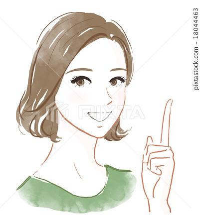 一個年輕成年女性 女生 女孩 18044463