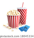 popcorn, tickets, cola 18045334