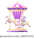 Retro Carousel Illustration 18045345