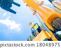 Asian construction worker on shovel excavator 18048975