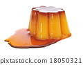 creme caramel with caramel sauce 18050321