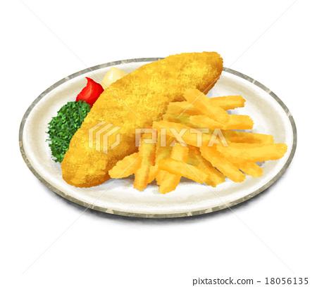 縮微膠片 薯片 中式料理 18056135