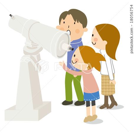 天文觀測 觀測天空 家庭 18056754
