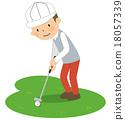 golf, golfing, putter 18057339