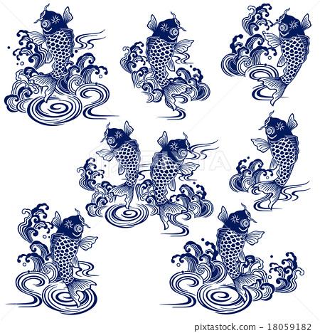 日本鯉魚 18059182