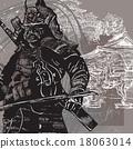 Vector from Japan Culture - Samurai, Shogun 18063014