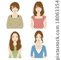 矢量 女性 女 18063354