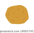 土豆 馬鈴薯 圖標 18063745