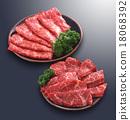 壽喜燒 用於燒烤(用於烤肉) 牛肉 18068392