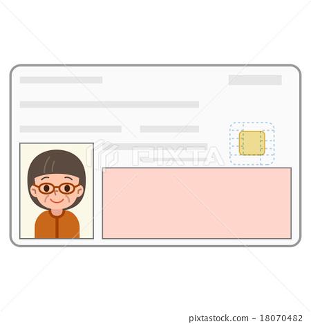 Identification card Senior women 18070482
