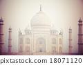 Taj mahal in India. 18071120