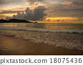 Sunset in Patong beach 18075436