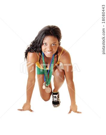 Black girl on start. 18080443