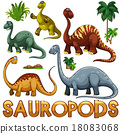 Different color of sauropods 18083068