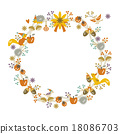 Wonderful christmas wreath with white background 18086703
