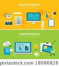 design process and creative concept banner  18086826