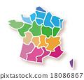 法國 矢量 縣 18086867