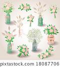 vector set bouquet 18087706