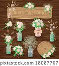 vector set bouquet 18087707