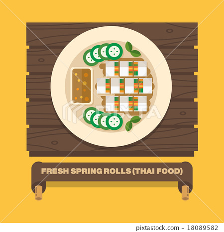Thailand's national dishes,Fresh spring rolls 18089582