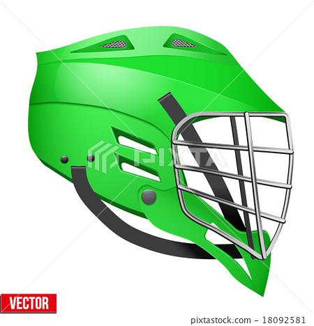 Red Lacrosse Helmet Side View 18092581