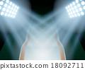 night tennis stadium in the spotlight.  18092711