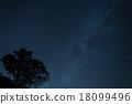 夜景 茶臼山 星空 18099496