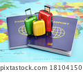 Travel or tourism concept. Passport and suitcase 18104150