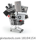 Home appliances in the shopping cart 18104154