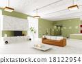 Interior of modern apartment 3d render 18122954