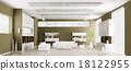 Interior of modern living room panorama 3d 18122955