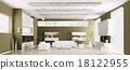 Interior of modern living room panorama 3d 18122955