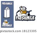 Logo design element Cow Fresh Milk 18123305