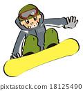 snowboard, snowboarding, sport 18125490